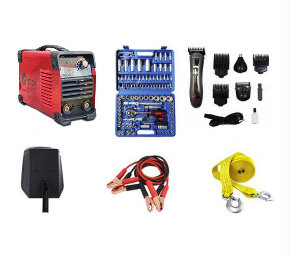 სპეც აქცია: შედუღების აპარატი EDON 300 + ხელსაწყოების ნაკრები VANADIUM 108 ცალიანი და საჩუქრები !