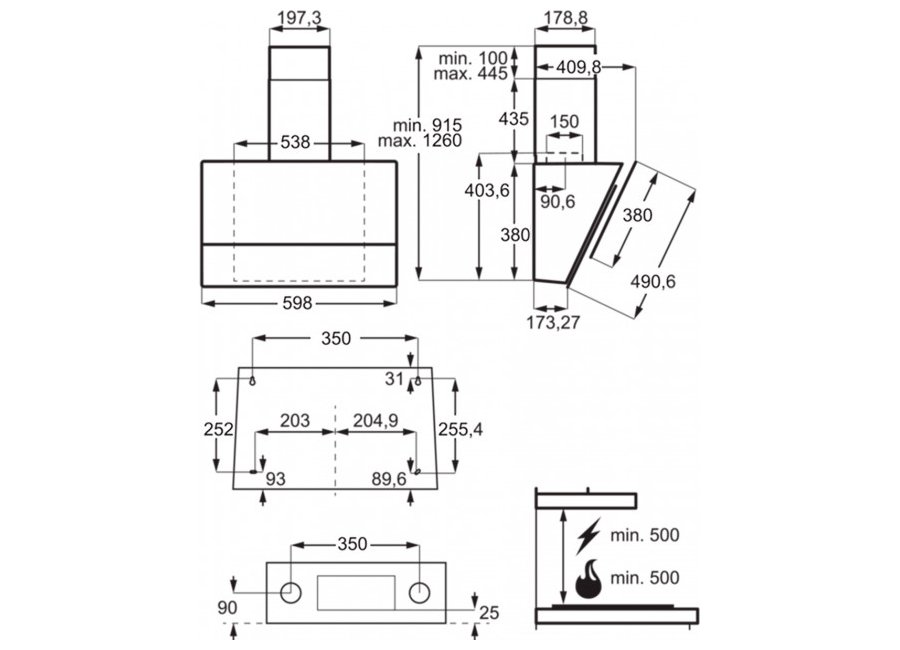 ჩასაშენებელი გამწოვი Electrolux LFV616Y | 101948