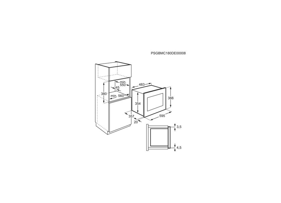 ჩასაშენებელი მიკროტალღური ღუმელი Electrolux LMS4253TMX | 100037