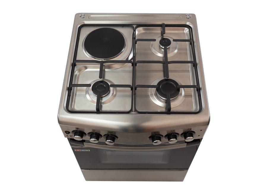 გაზქურა Oz OCourved60X60X3/1 Oven-Combination Black-Silver