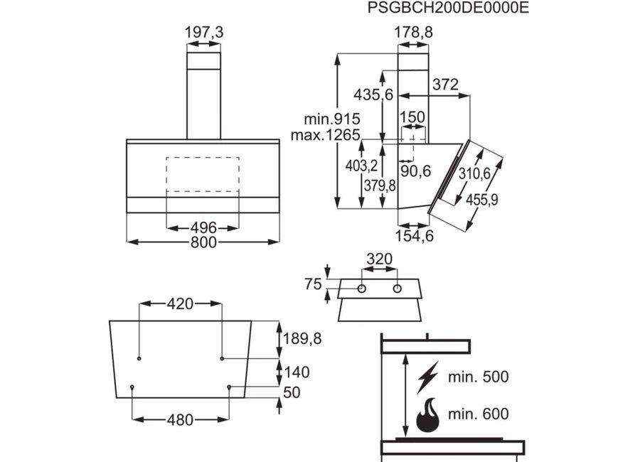 ჩასაშენებელი გამწოვი AEG DVB5860B | 110143