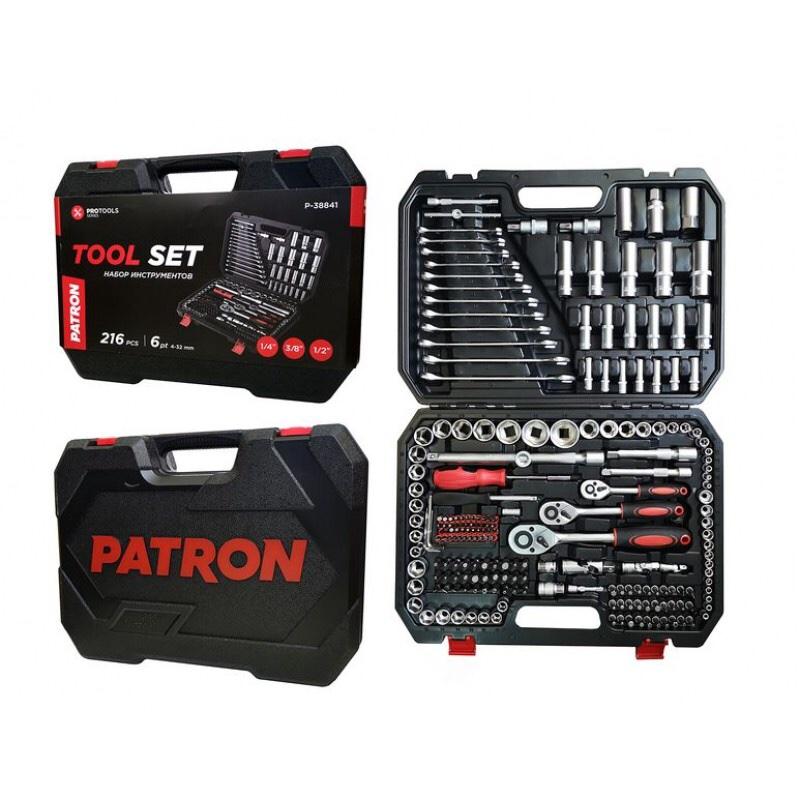 ხელსაწყოების ნაკრები PATRON 216 PCS